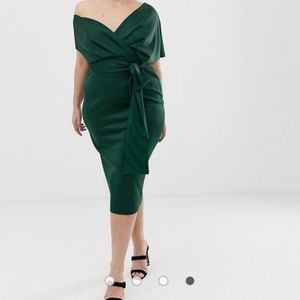 ASOS CURVE MIDI DRESS